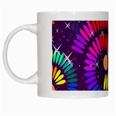 Abstract Background Spiral Colorful White Mugs by HermanTelo