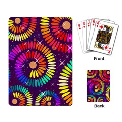 Abstract Background Spiral Colorful Playing Cards Single Design