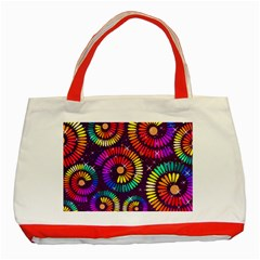 Abstract Background Spiral Colorful Classic Tote Bag (red) by HermanTelo