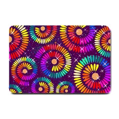 Abstract Background Spiral Colorful Small Doormat  by HermanTelo