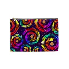 Abstract Background Spiral Colorful Cosmetic Bag (medium)