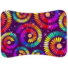 Abstract Background Spiral Colorful Velour Seat Head Rest Cushion