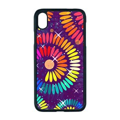 Abstract Background Spiral Colorful Iphone Xr Seamless Case (black)
