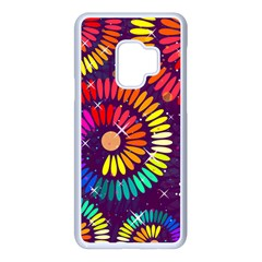 Abstract Background Spiral Colorful Samsung Galaxy S9 Seamless Case(white)
