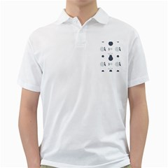 Apples Pears Continuous Golf Shirt by HermanTelo