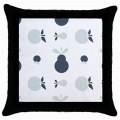 Apples Pears Continuous Throw Pillow Case (black) by HermanTelo