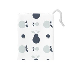 Apples Pears Continuous Drawstring Pouch (medium) by HermanTelo