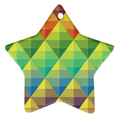 Background Colorful Geometric Triangle Ornament (star) by HermanTelo