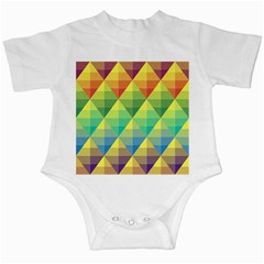Background Colorful Geometric Triangle Infant Creepers by HermanTelo