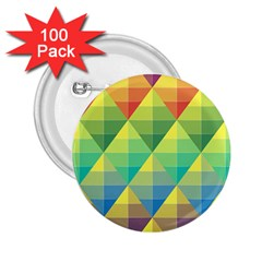 Background Colorful Geometric Triangle 2 25  Buttons (100 Pack)  by HermanTelo
