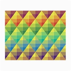 Background Colorful Geometric Triangle Small Glasses Cloth by HermanTelo