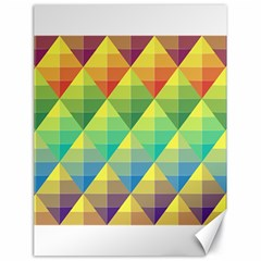 Background Colorful Geometric Triangle Canvas 18  X 24  by HermanTelo