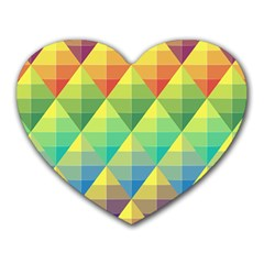 Background Colorful Geometric Triangle Heart Mousepads by HermanTelo