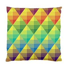 Background Colorful Geometric Triangle Standard Cushion Case (one Side) by HermanTelo