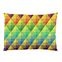 Background Colorful Geometric Triangle Pillow Case by HermanTelo