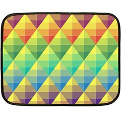 Background Colorful Geometric Triangle Fleece Blanket (mini) by HermanTelo