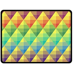 Background Colorful Geometric Triangle Fleece Blanket (large)  by HermanTelo