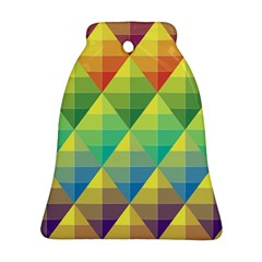 Background Colorful Geometric Triangle Ornament (bell) by HermanTelo