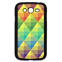 Background Colorful Geometric Triangle Samsung Galaxy Grand Duos I9082 Case (black) by HermanTelo