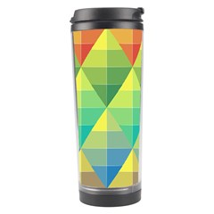 Background Colorful Geometric Triangle Travel Tumbler by HermanTelo