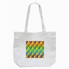 Background Colorful Geometric Triangle Tote Bag (white) by HermanTelo