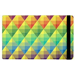 Background Colorful Geometric Triangle Apple Ipad Pro 12 9   Flip Case by HermanTelo