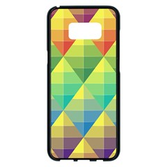 Background Colorful Geometric Triangle Samsung Galaxy S8 Plus Black Seamless Case by HermanTelo