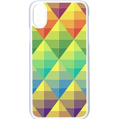 Background Colorful Geometric Triangle Iphone X Seamless Case (white) by HermanTelo
