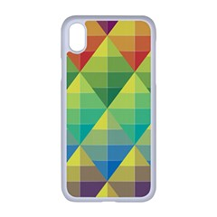Background Colorful Geometric Triangle Iphone Xr Seamless Case (white)