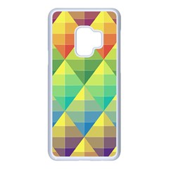 Background Colorful Geometric Triangle Samsung Galaxy S9 Seamless Case(white) by HermanTelo