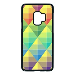 Background Colorful Geometric Triangle Samsung Galaxy S9 Seamless Case(black) by HermanTelo