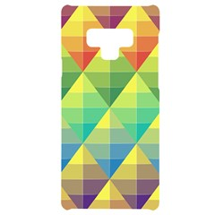 Background Colorful Geometric Triangle Samsung Note 9 Black Uv Print Case  by HermanTelo