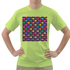 Background Colorful Geometric Green T-shirt by HermanTelo