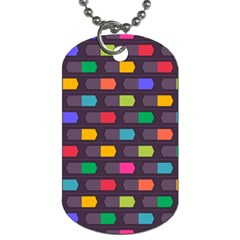 Background Colorful Geometric Dog Tag (two Sides) by HermanTelo