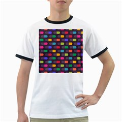 Background Colorful Geometric Ringer T by HermanTelo