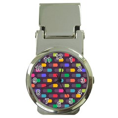 Background Colorful Geometric Money Clip Watches by HermanTelo