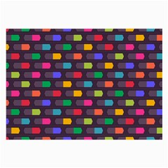 Background Colorful Geometric Large Glasses Cloth by HermanTelo