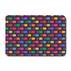 Background Colorful Geometric Small Doormat  by HermanTelo