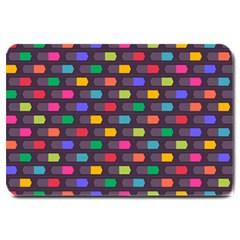 Background Colorful Geometric Large Doormat  by HermanTelo