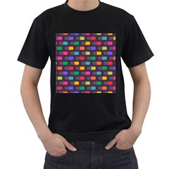 Background Colorful Geometric Men s T-shirt (black) by HermanTelo