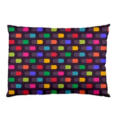 Background Colorful Geometric Pillow Case (two Sides)