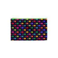 Background Colorful Geometric Cosmetic Bag (xs) by HermanTelo