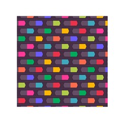 Background Colorful Geometric Small Satin Scarf (square)