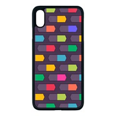 Background Colorful Geometric Iphone Xs Max Seamless Case (black)
