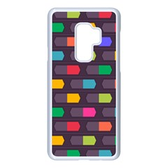 Background Colorful Geometric Samsung Galaxy S9 Plus Seamless Case(white) by HermanTelo
