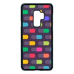Background Colorful Geometric Samsung Galaxy S9 Plus Seamless Case(black) by HermanTelo