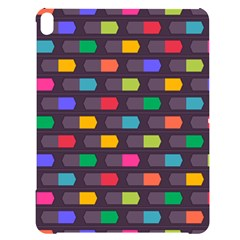 Background Colorful Geometric Apple Ipad Pro 12 9   Black Uv Print Case by HermanTelo