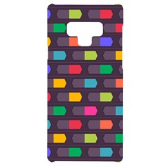 Background Colorful Geometric Samsung Note 9 Black Uv Print Case  by HermanTelo