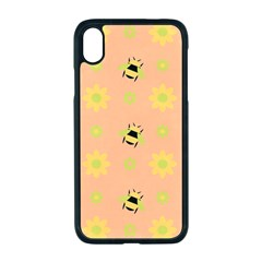 Bee Bug Nature Wallpaper Iphone Xr Seamless Case (black)