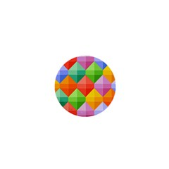 Background Colorful Geometric Triangle Rainbow 1  Mini Buttons by HermanTelo